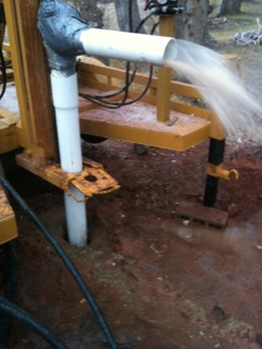 Do it yourself water well blowing 20 gpm